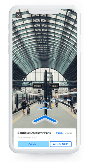 mobile with indoor augmented reality navigation in train station