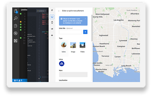 iPad with code and Wemap map